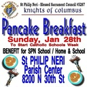 Knights of Columbus Pancake Breakfast for Catholic Schools Week