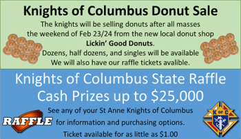 Donuts/Raffle Ticket Sales