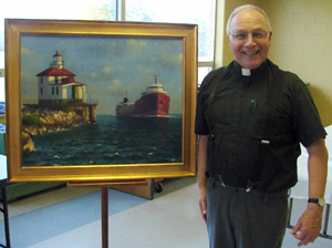 Fr. Garvey's retirement gift from parish