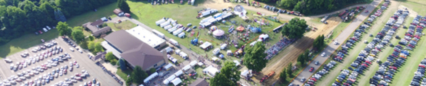 Ox Roast Fair aerial view 2016