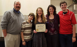 Eagle of the Cross 2016 - Becca Rowe with family