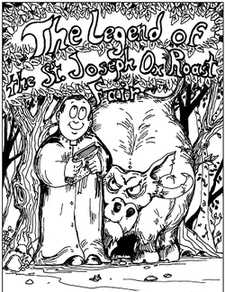 The Legend of the St. Joseph Ox Roast Fair coloring book cover