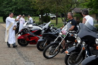 Blessing of Bikes with Deacon Gerry Scopilliti