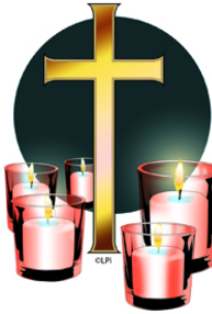 candles with cross