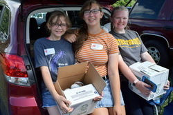 Girl Scouts collect items for 4C's