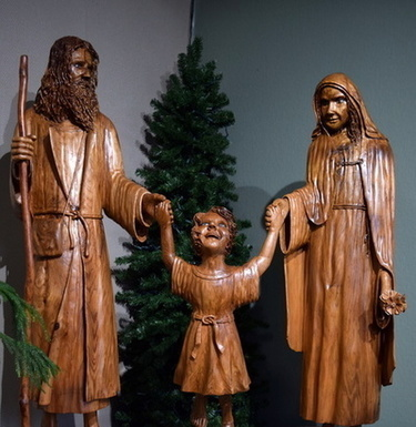 Holy Family Sculpture in Narthex