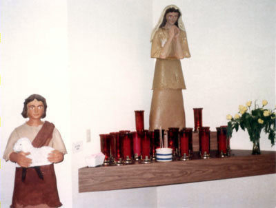 Mary & Jesus statues
