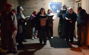 carolers during Live Nativity