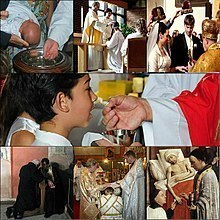 Seven Sacraments collage