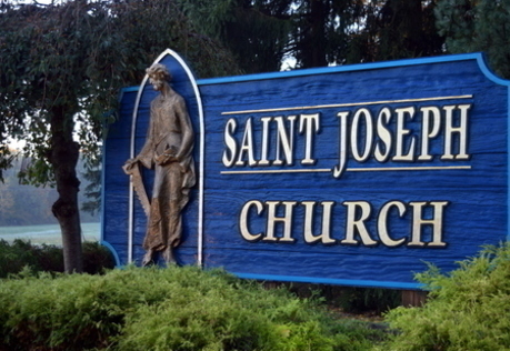 St. Joseph Church entrance sign