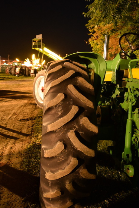 tractor readies for Ox Roast Fair pulls
