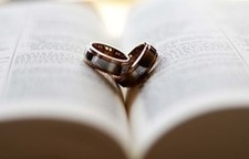 wedding rings on Bible