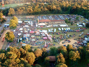 aerial view of St. Joseph's Ox Roast Fair