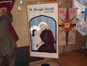 St. Joseph banner at St. Columba cathedral