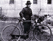 Rev. Weber with bicycle