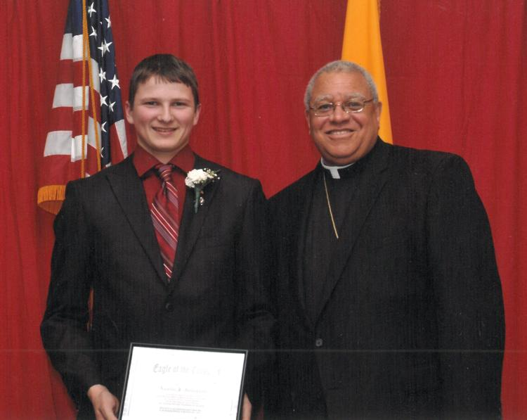 Eagle of the Cross 2012 - Austin Anderson with Bishop Murry