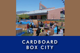 Cardboard Box City at St. Gall Catholic Church