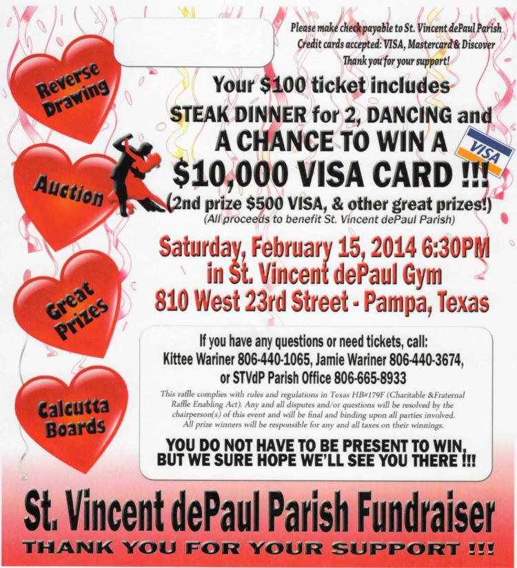 Parish Fundraiser Tickets