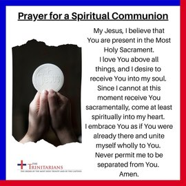 Prayer for a Spiritual Communion