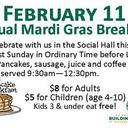 Mardi Gras Pancake Breakfast This Sunday!