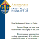 Archdiocese Reaches Settlement