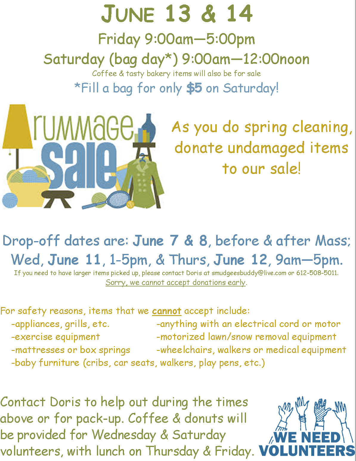 Rummage Sale Donation Collection St Richard S Catholic