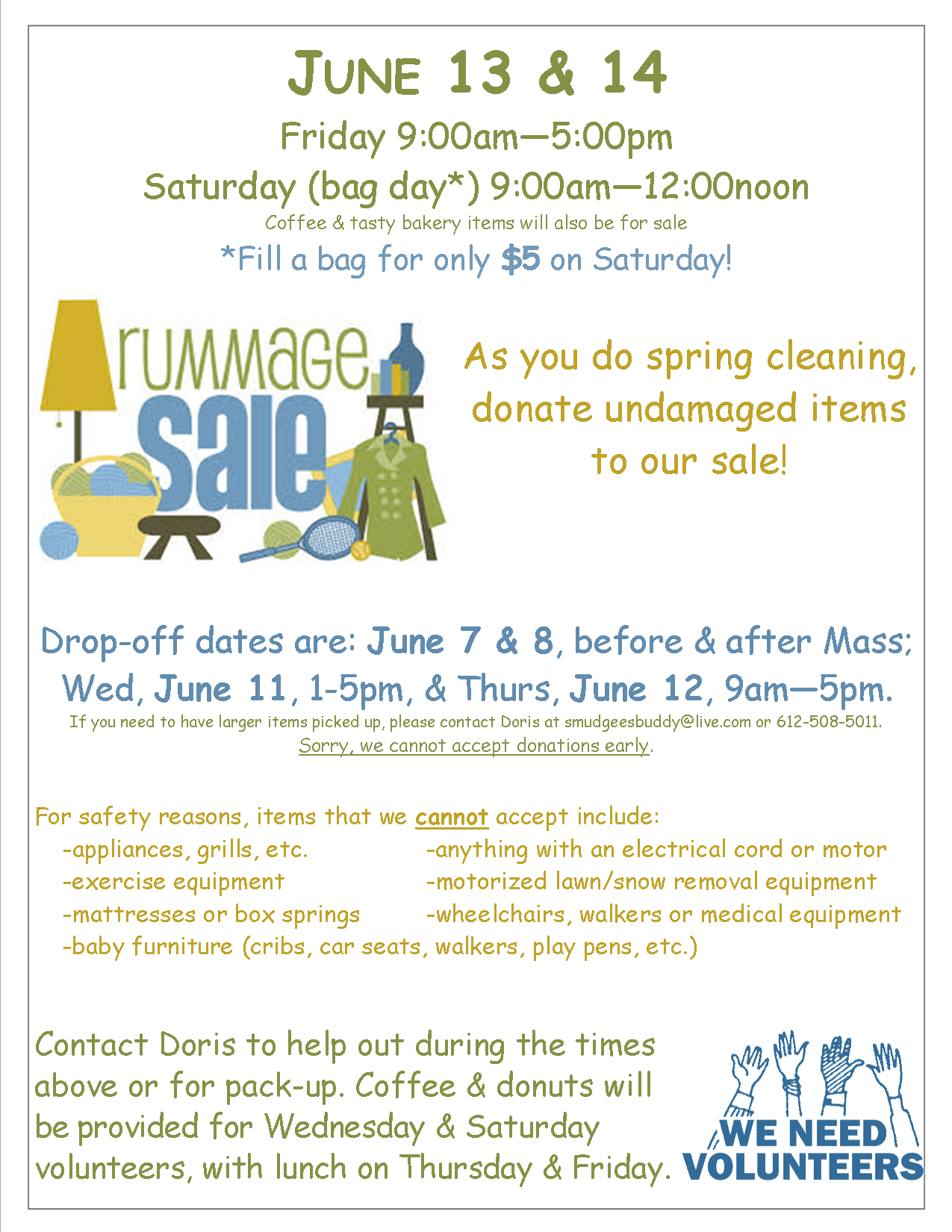 Rummage Sale Donation Collection