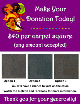 It's Time to Choose the Carpet Squares!