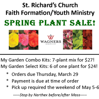 Spring Plant Sale Orders Due