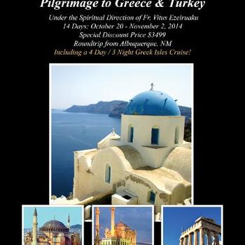 Pilgrimage to Greece and Turkey