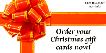 Order your Christmas gift cards now!