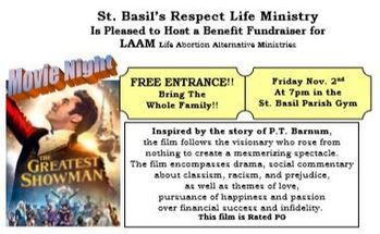 "Respect Life Ministry - Movie Night ""The Greatest Showman"""