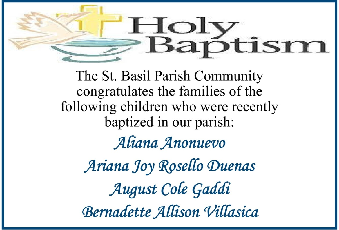 Names of Newly Baptized Members