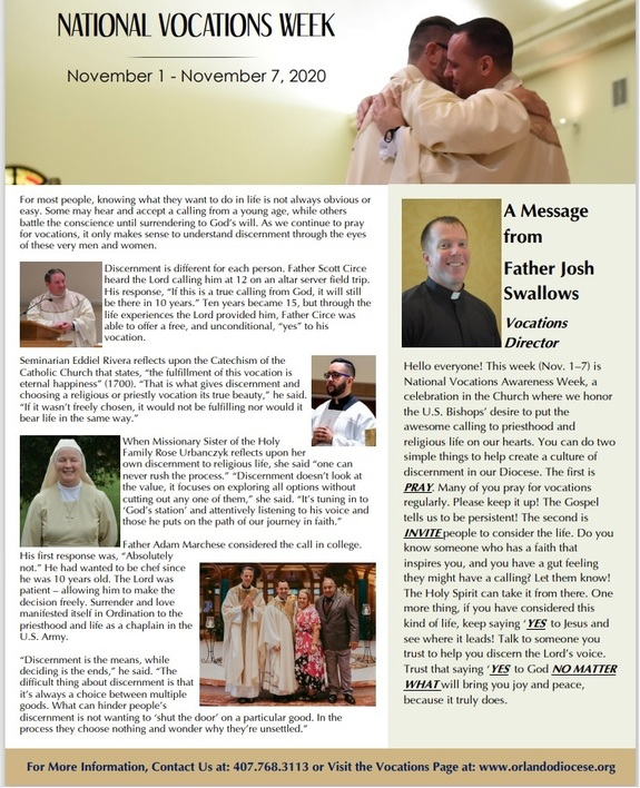 National Vocations Week Page 1
