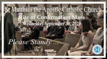 2020 Rite of Confirmation - Livestream