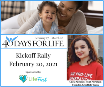 40 Days for Life - Kickoff Rally @ Spring Planned Parenthood