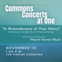 Commons Concerts at One: Mount Vernon Music
