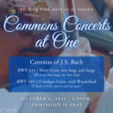 Commons Concert at One
