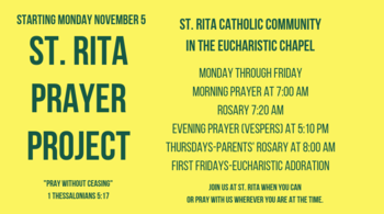 Start Date for the St. Rita Prayer Project