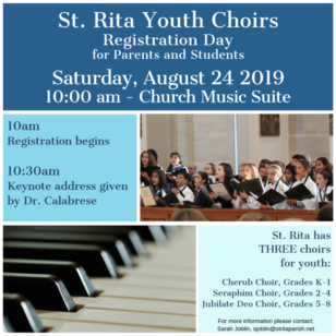 Youth Choir Registration Day