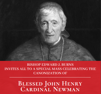 Bishop Burns Celebrates the Canonization of Cardinal Newman