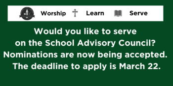 Deadline for School Advisory Council Nominations