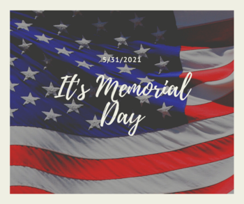 Memorial Day:  9 am Mass only today