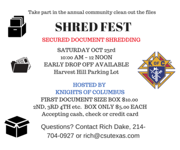 Shred Fest hosted by Knights of Columbus