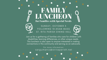 Family Luncheon -Special Needs Families