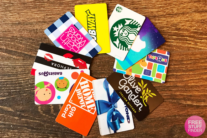 $5, $10, $15 $20 Gift Cards