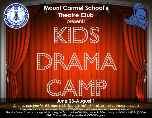 Mount Carmel School's Theatre Club proudly presents its 2014 Kids Drama Camp