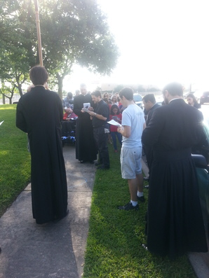 Good Friday Stations of the Cross for Life Outside Planned Parenthood Houston