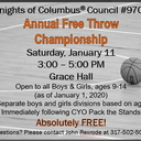 Annual Free Throw Championship sponsored by Knights of Columbus® Council #9706