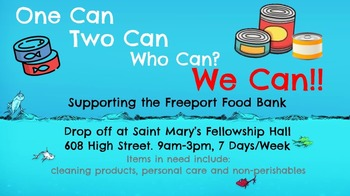 Food Drive for Freeport Food Bank